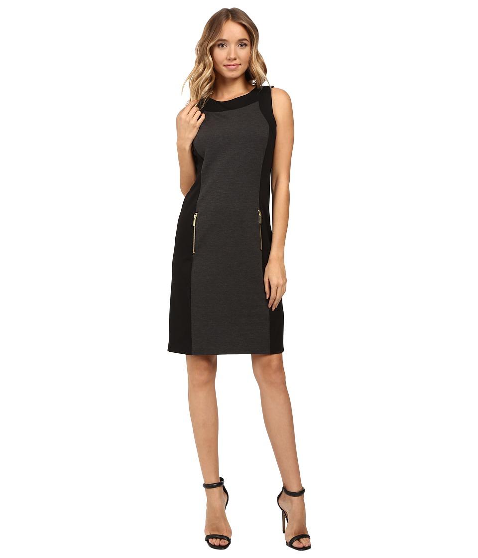 Christin Michaels Dayton Color Block Dress (Charcoal/Black) Women
