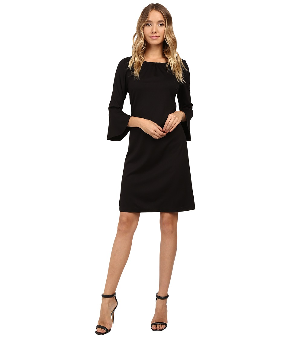 Christin Michaels - Dresden Bell Sleeve Dress (Black) Women's Dress