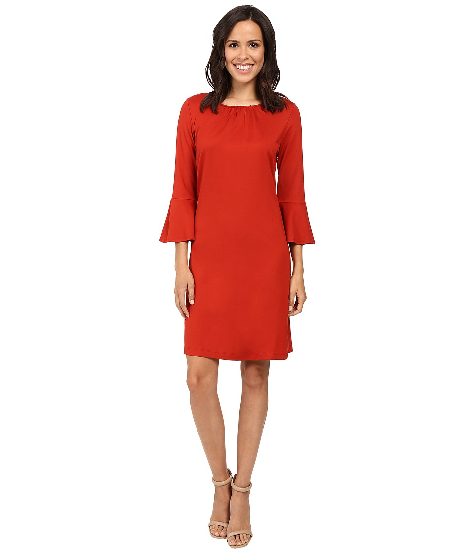 Christin Michaels - Dresden Bell Sleeve Dress (Pumpkin Spice) Women's Dress