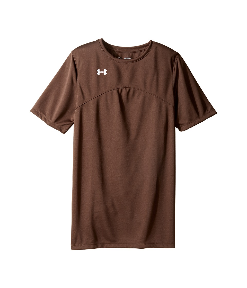 Under Armour Kids - UA Golazo Jersey (Big Kids) (Timber) Boy's Short Sleeve Pullover