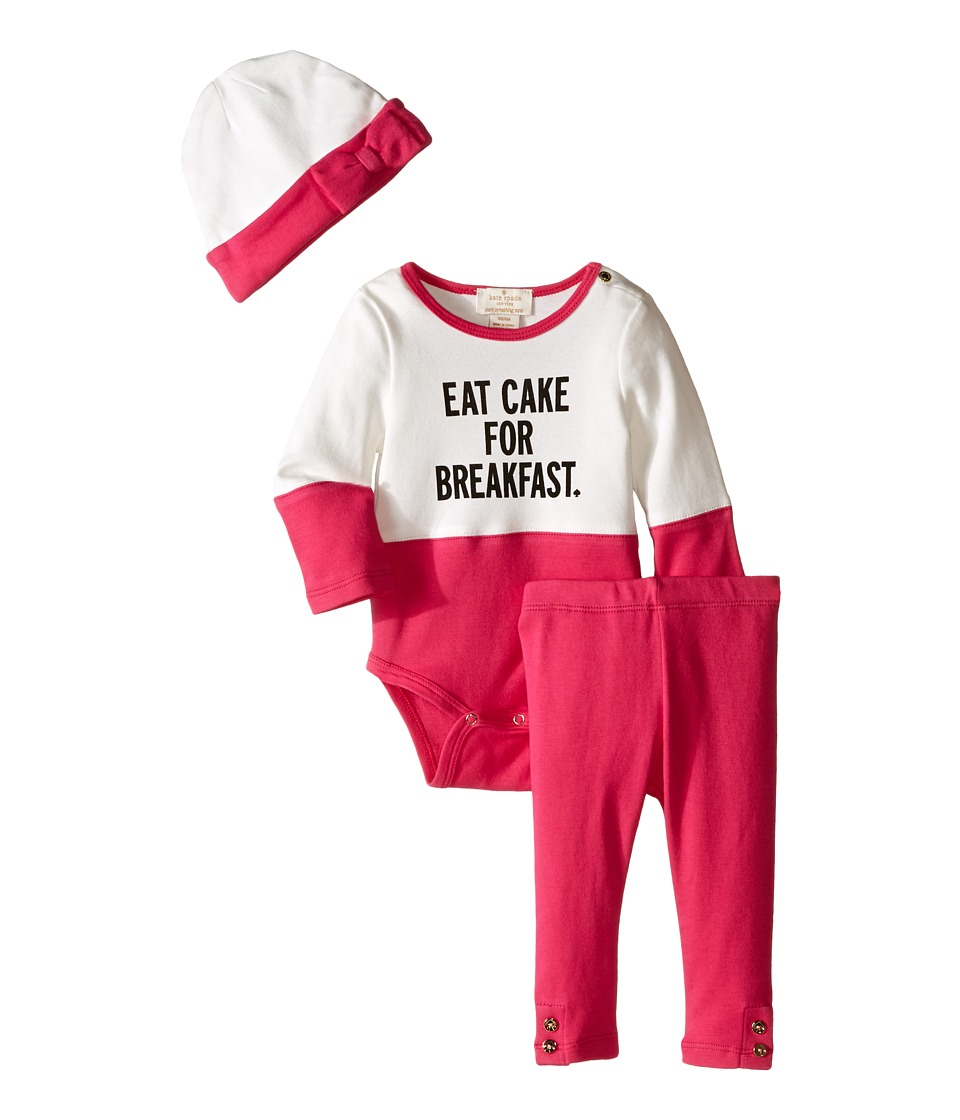 Kate Spade New York Kids - Eat Cake for Breakfast Box Set (Infant) (Sweetheart Pink) Girl's Active Sets