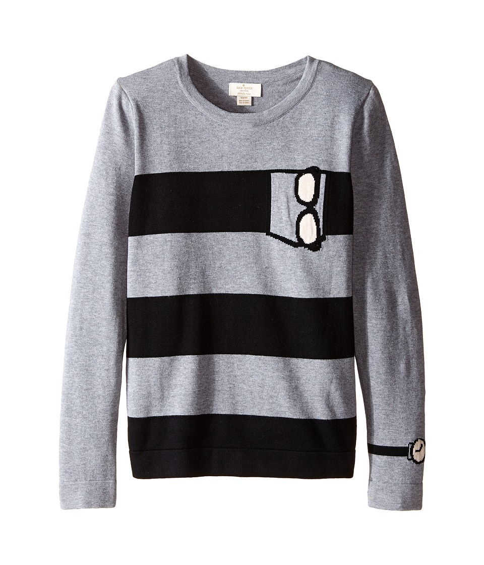 Kate Spade New York Kids - Trompe L'Oeil Sweater (Little Kids/Big Kids) (Heather Grey) Girl's Sweater