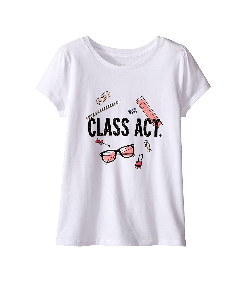 Kate Spade New York Kids - Class Act Tee (Toddler/Little Kids) (Fresh White) Girl's T Shirt