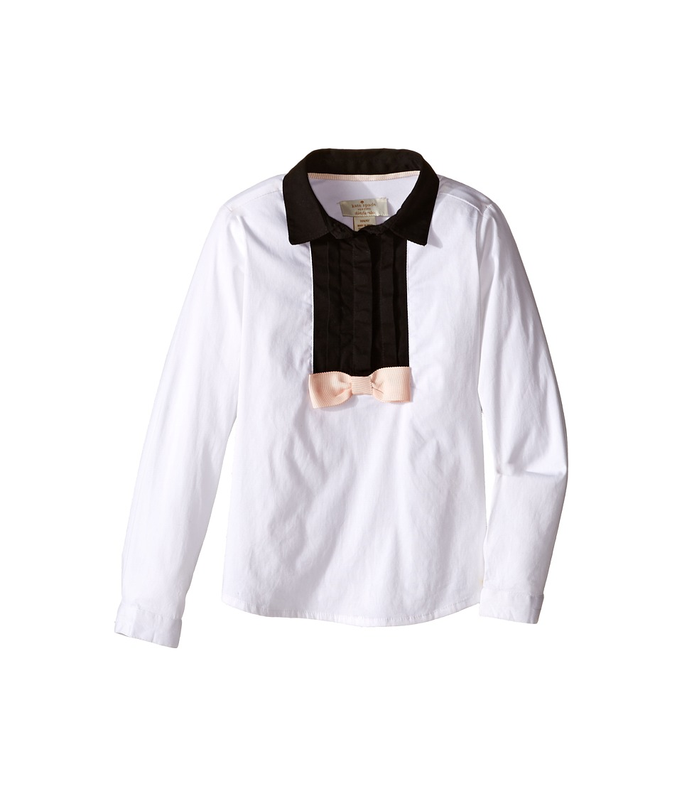 Kate Spade New York Kids - Tuxedo Top (Toddler/Little Kids) (Fresh White/Black) Girl's Clothing