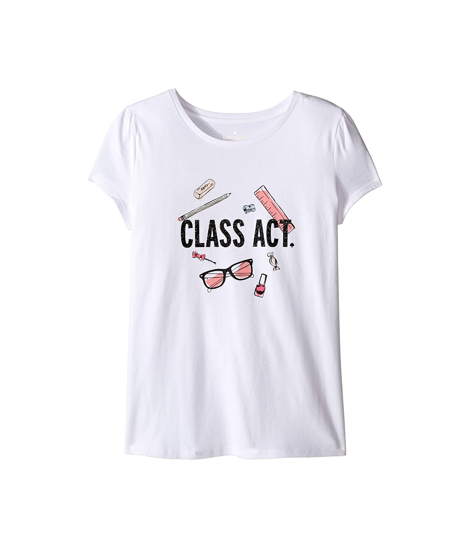 Kate Spade New York Kids - Class Act Tee (Little Kids/Big Kids) (Fresh White) Girl's T Shirt