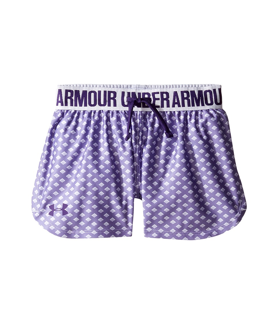 Under Armour Kids - Printed Play Up Shorts (Big Kids) (Lavender Ice/Lavender Ice) Girl's Shorts