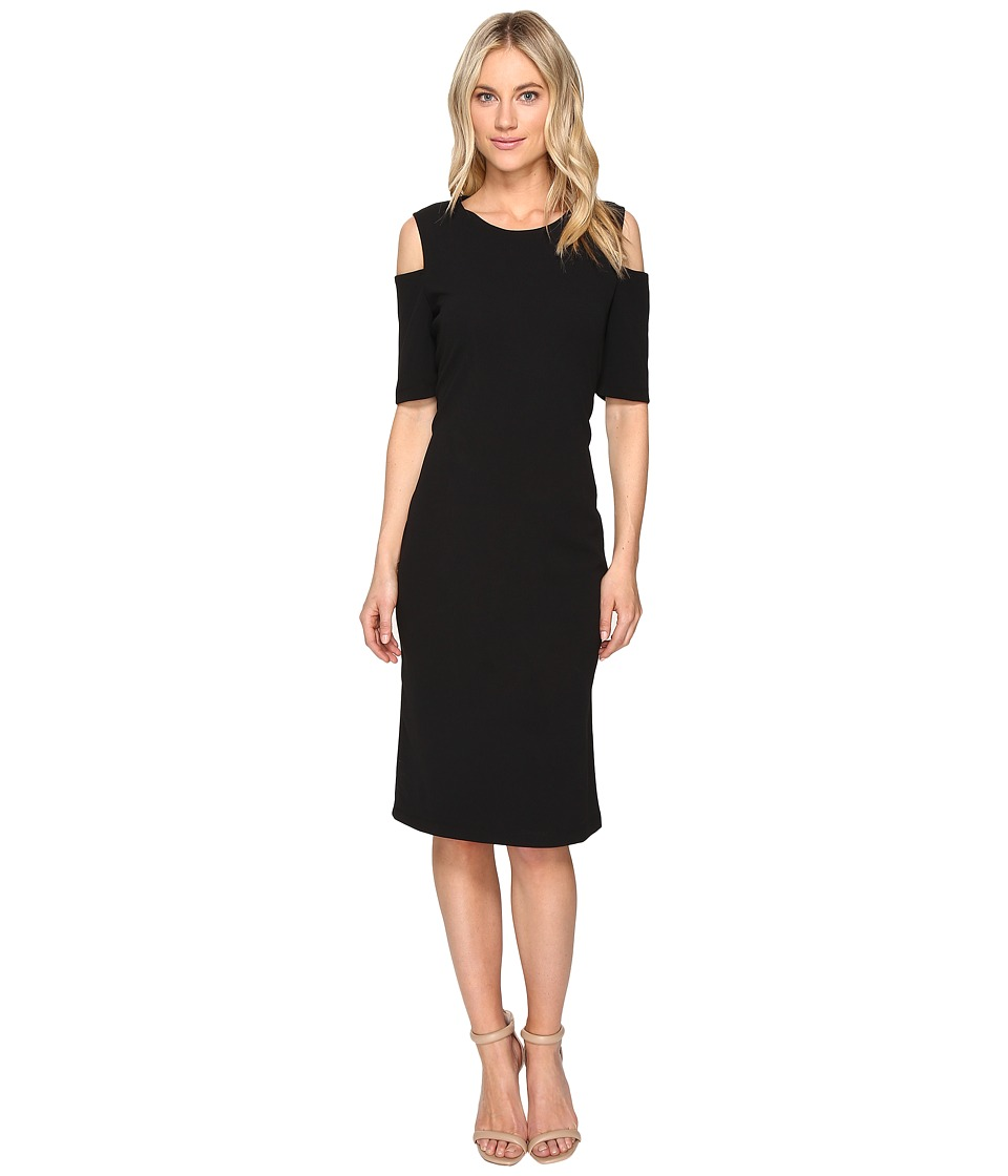 Christin Michaels - Lexington Cold Shoulder Dress (Black) Women's Dress