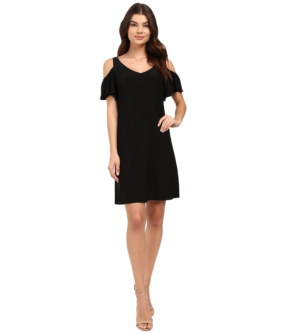 Christin Michaels - Vera Cold Shoulder Dress (Black) Women's Dress