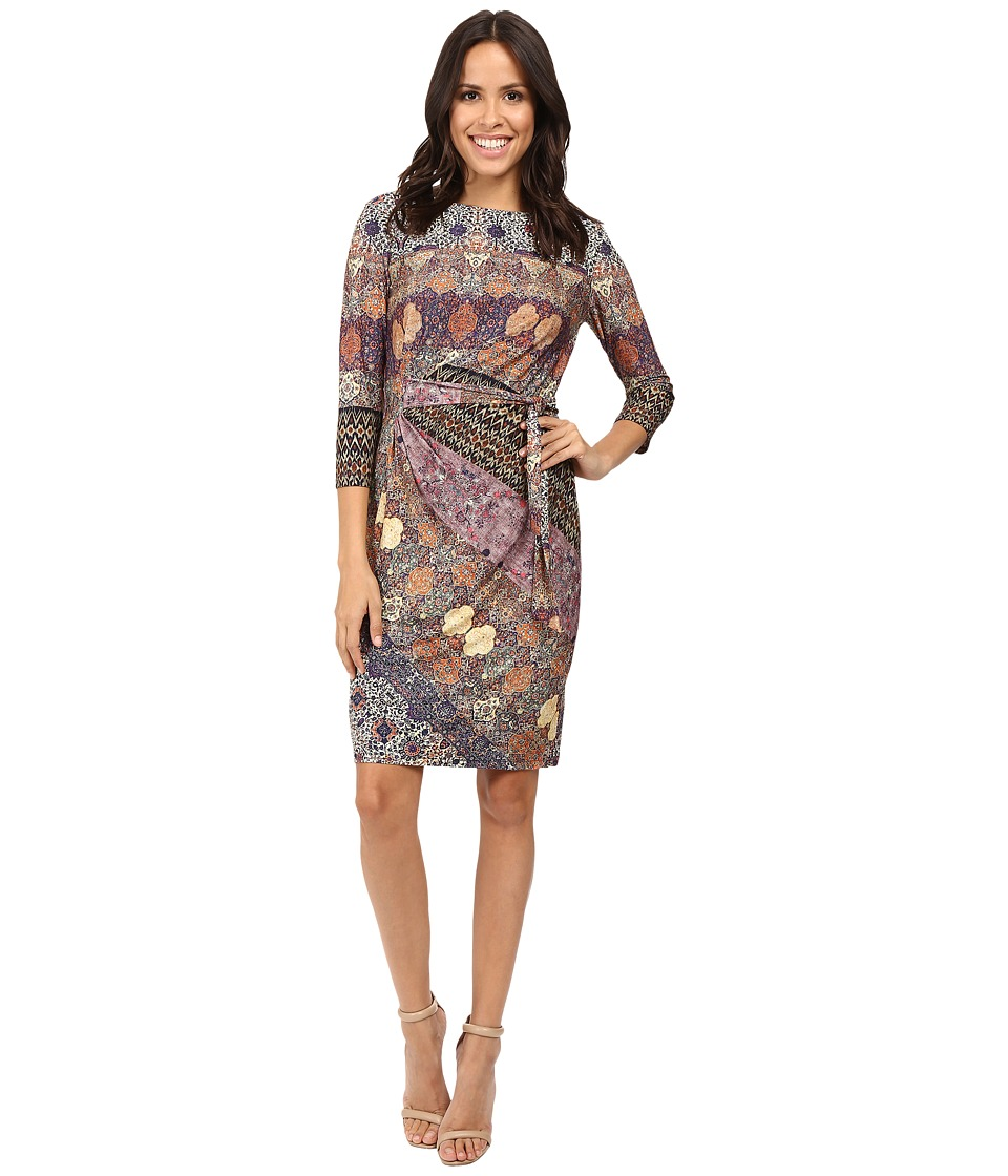 Christin Michaels - Manchester Side Tie Dress (Brown) Women's Dress