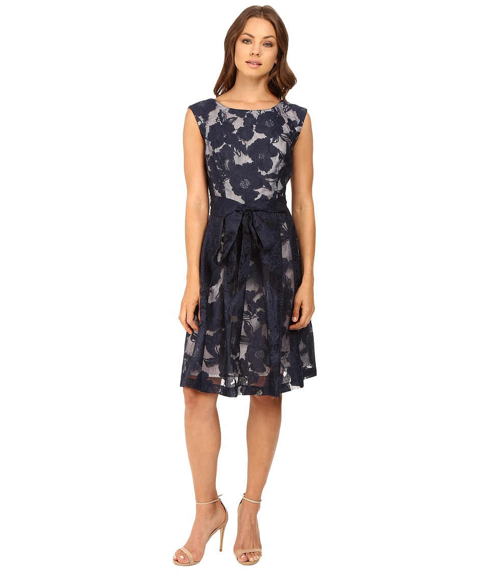 Christin Michaels - Linden Fit and Flare Dress (Ink/Blue) Women's Dress