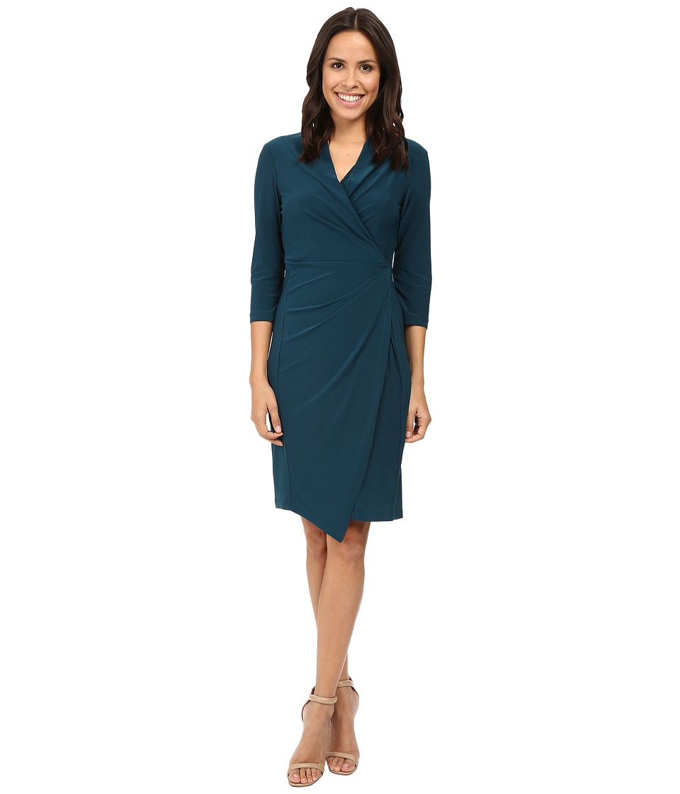 Christin Michaels - Loretto Surplice Dress (Spruce) Women's Dress
