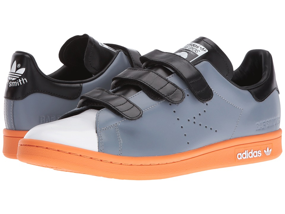 adidas by Raf Simons - Raf Simons Stan Smith CF (Grey/White/Pumpkin) Shoes
