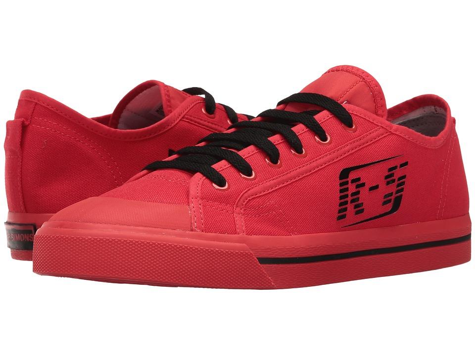Image of adidas by Raf Simons - Raf Simons Matrix Spirit Low-Top (Tomato/Black/Tomato) Shoes