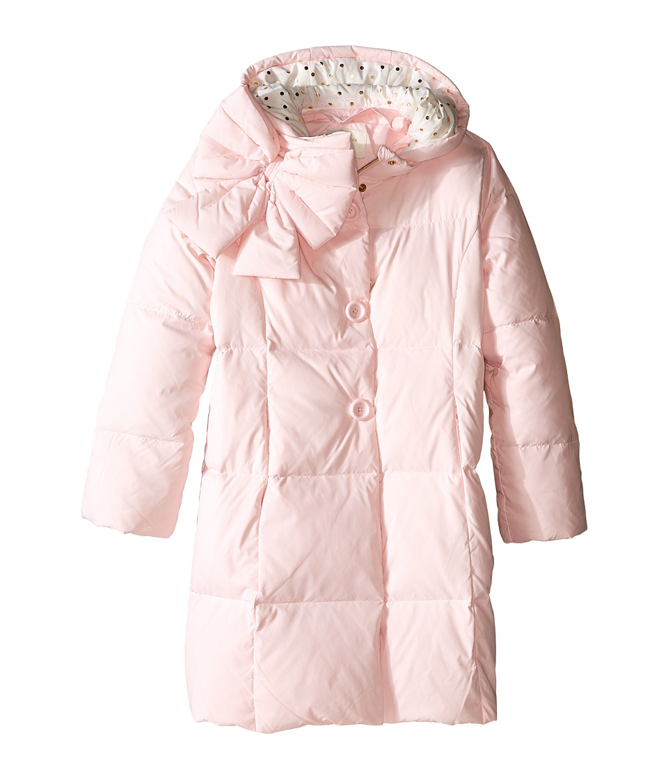 Kate Spade New York Kids - Neck Puffer Coat (Little Kids/Big Kids) (Satin Slipper) Girl's Coat