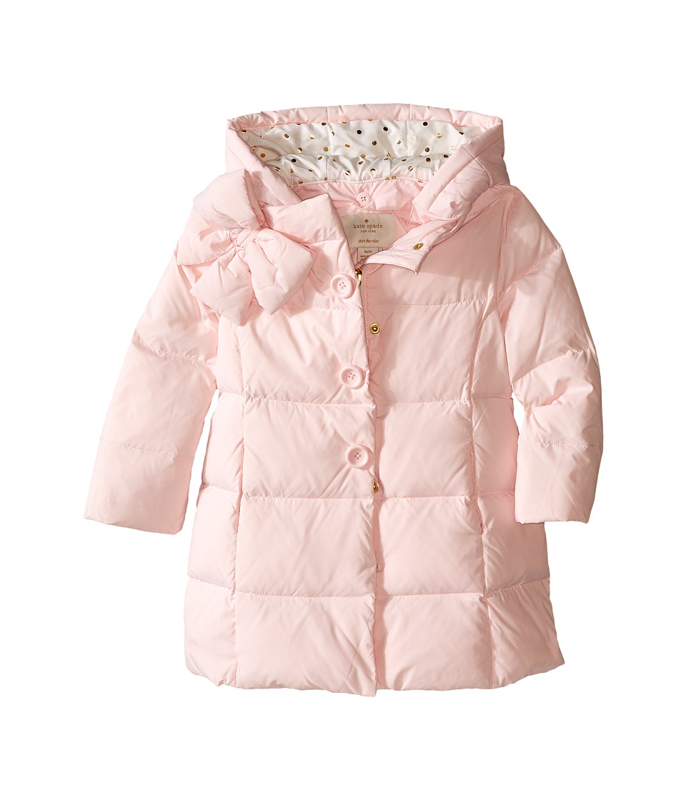 Kate Spade New York Kids - Bow Neck Puffer Coat (Toddler/Little Kids) (Satin Slipper) Girl's Coat