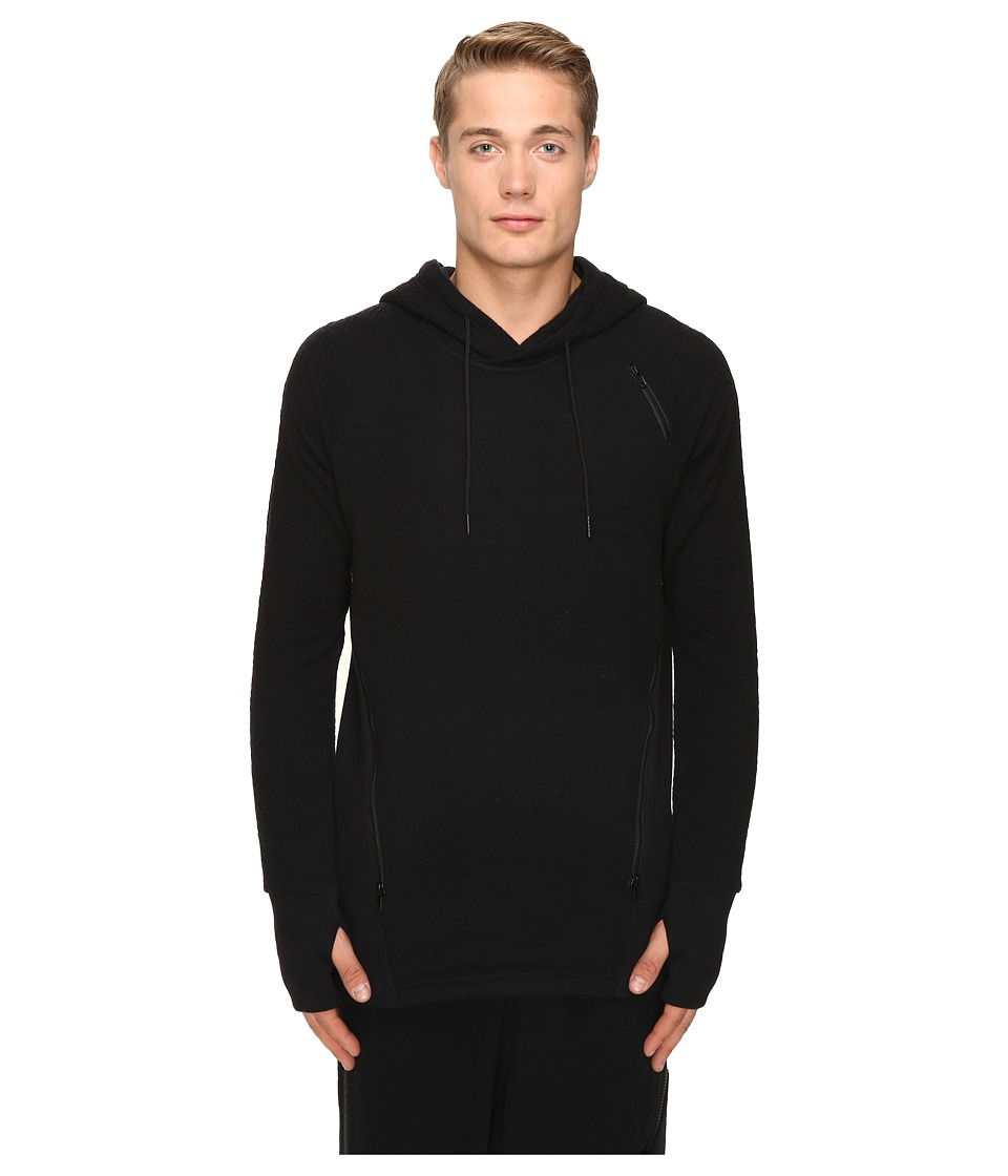 adidas Y-3 by Yohji Yamamoto - Double Jersey Hoodie (Black) Men's Sweatshirt