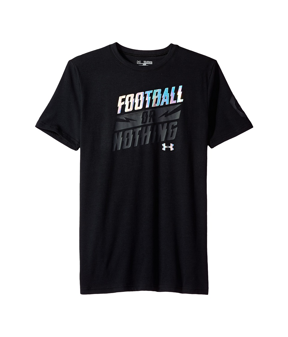 Under Armour Kids - Football or Nothing Short Sleeve Tee (Big Kids) (Black) Boy's T Shirt