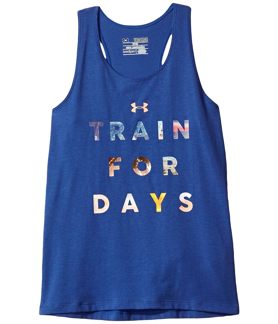 Under Armour Kids - UA Train For Days Tank Top (Big Kids) (Deep Periwinkle/Playful Peach) Girl's Sleeveless