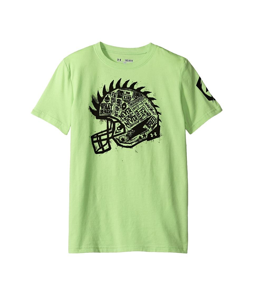 Under Armour Kids - Never Retreat Short Sleeve Tee (Big Kids) (Avex Green) Boy's T Shirt