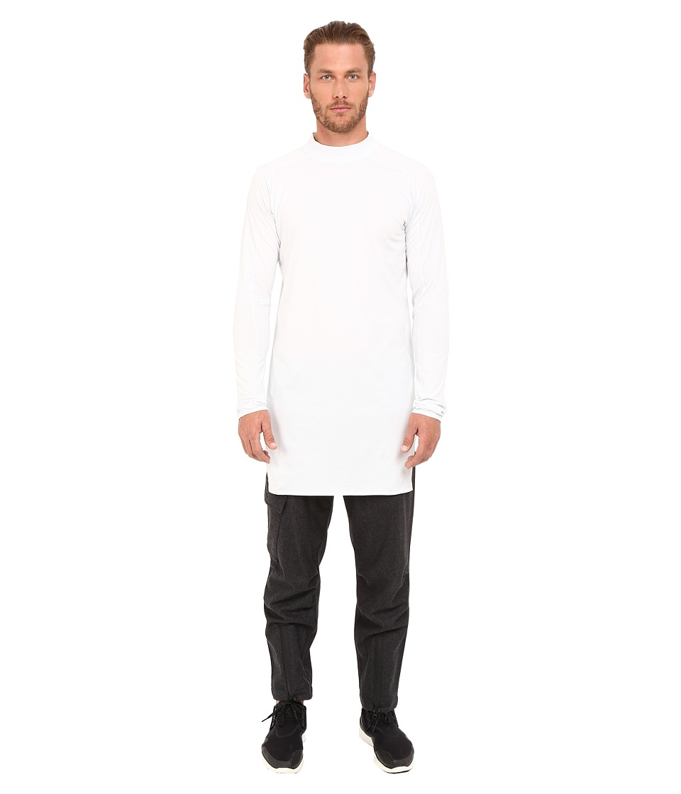 adidas Y-3 by Yohji Yamamoto - Collar Long Sleeve Long T-Shirt (Crystal White) T Shirt