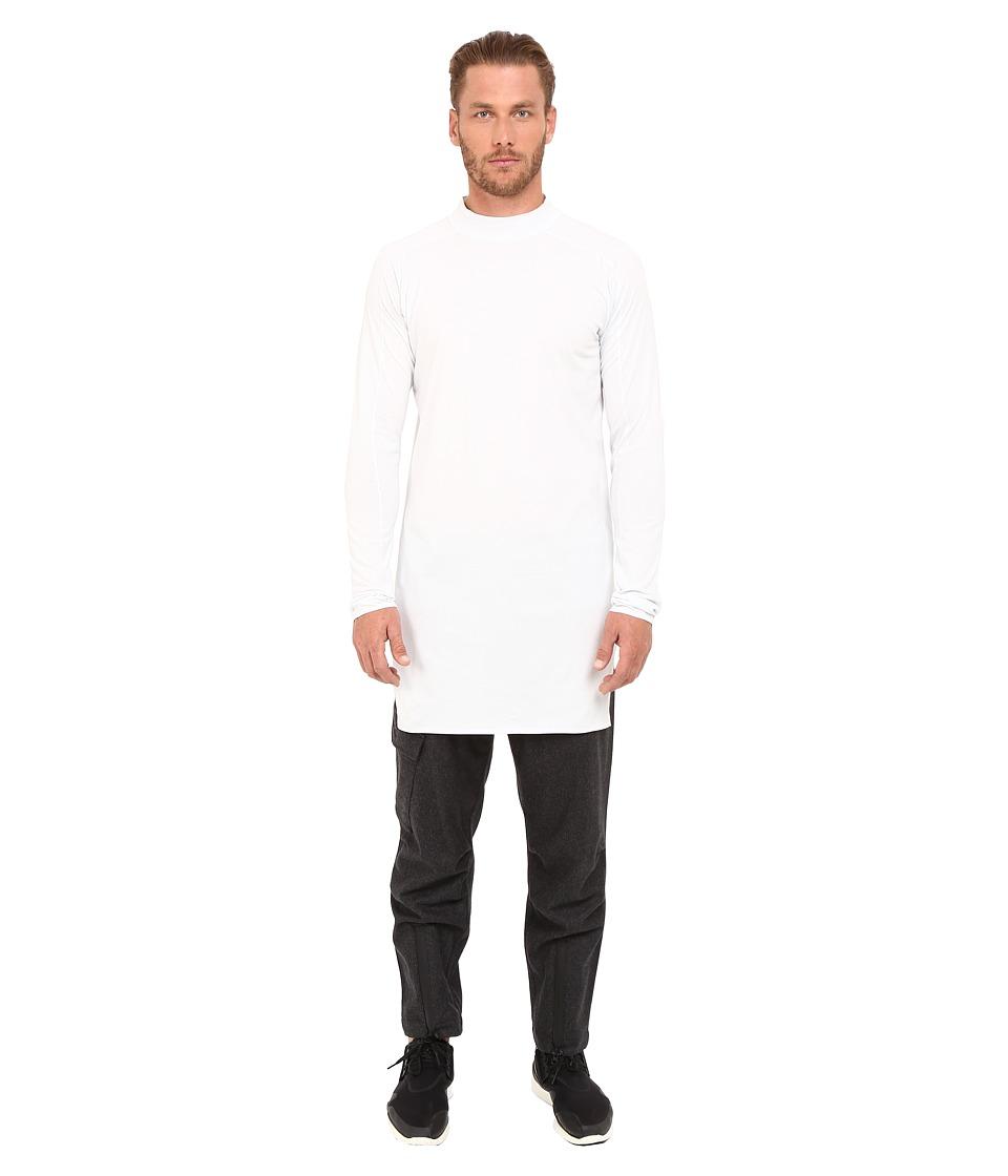 adidas Y-3 by Yohji Yamamoto - Collar Long Sleeve Long T-Shirt (Crystal White) T Shirt
