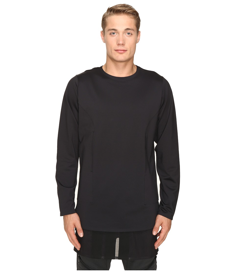 adidas Y-3 by Yohji Yamamoto - Lux FT Pure Long Sleeve T-Shirt (Black) T Shirt