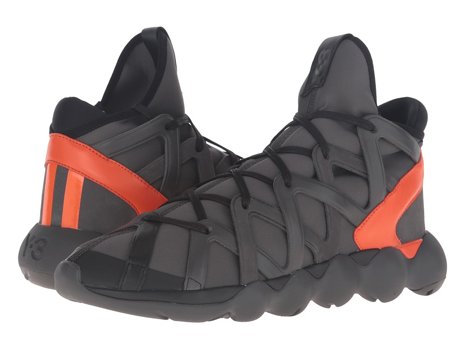 adidas Y-3 by Yohji Yamamoto - Kyujo High (Charcoal/Core Black/Orange) Men's Shoes