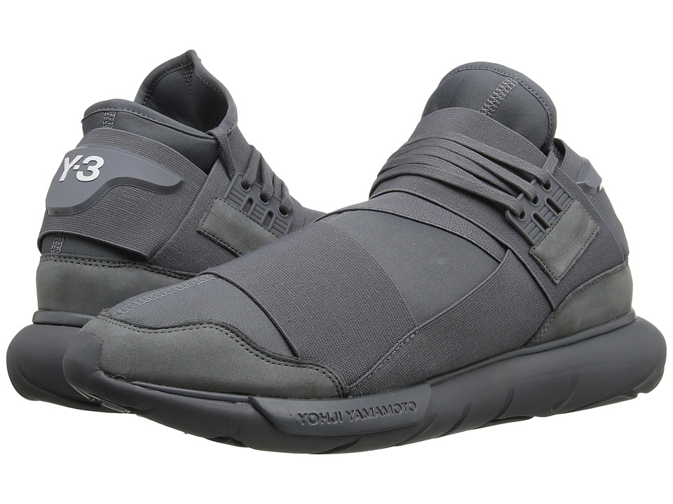 adidas Y-3 by Yohji Yamamoto - Qasa High (Vista Grey/Vista Grey/Vista Grey) Men's Shoes