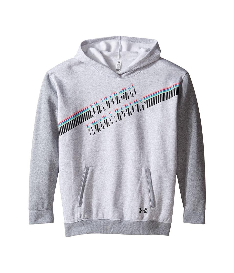 Under Armour Kids - Favorite Fleece Hoodie (Big Kids) (Air Force Gray Heather/True Gray Heather) Girl's Sweatshirt