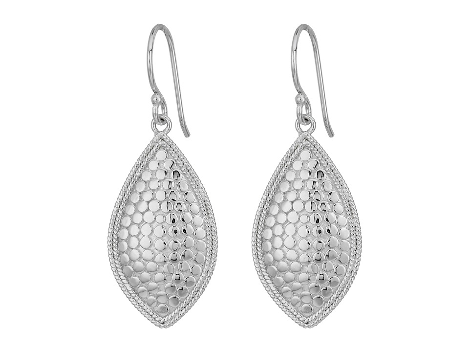 Anna Beck - Almond Earrings (Silver) Earring