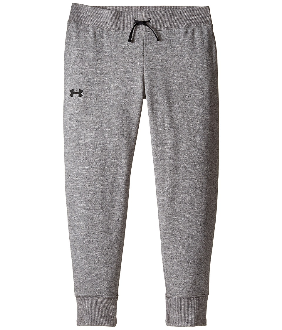 Under Armour Kids - French Terry Ankle Crop (Big Kids) (Black Medium Heather) Girl's Casual Pants