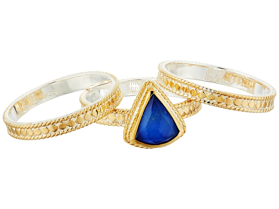 Anna Beck - Lapis Triplet Set of 3 Stacking Rings (Gold/Silver) Ring