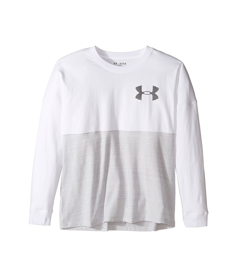Under Armour Kids - Varsity Crew (Big Kids) (White) Girl's Clothing