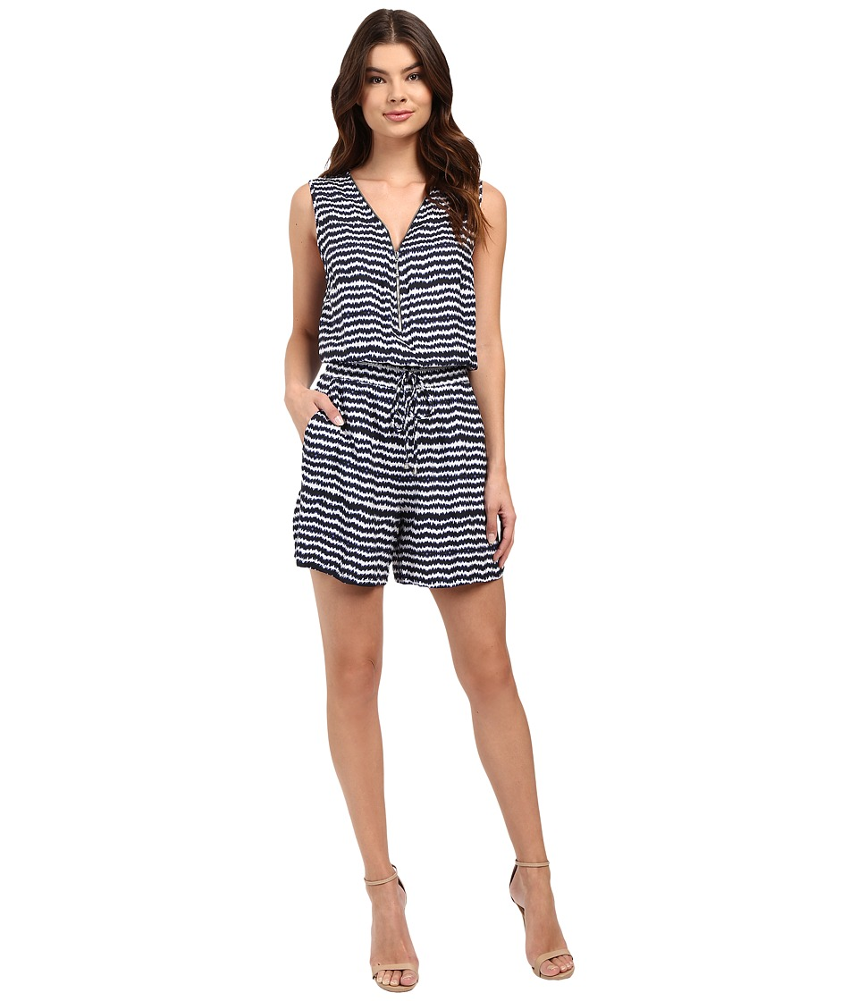 Christin Michaels - Rhina Printed Romper (Navy/White) Women's Jumpsuit & Rompers One Piece