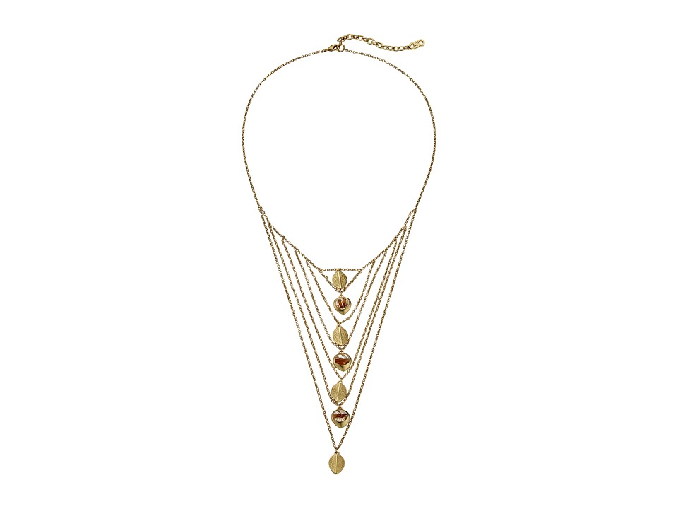 Cole Haan - Multi Chain Stone Drama Necklace (Gold) Necklace