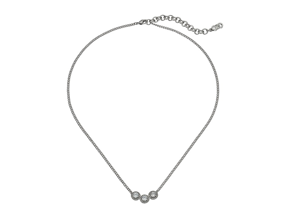 Cole Haan - 16 3 CZ Necklace (Light Rhodium/CZ) Necklace