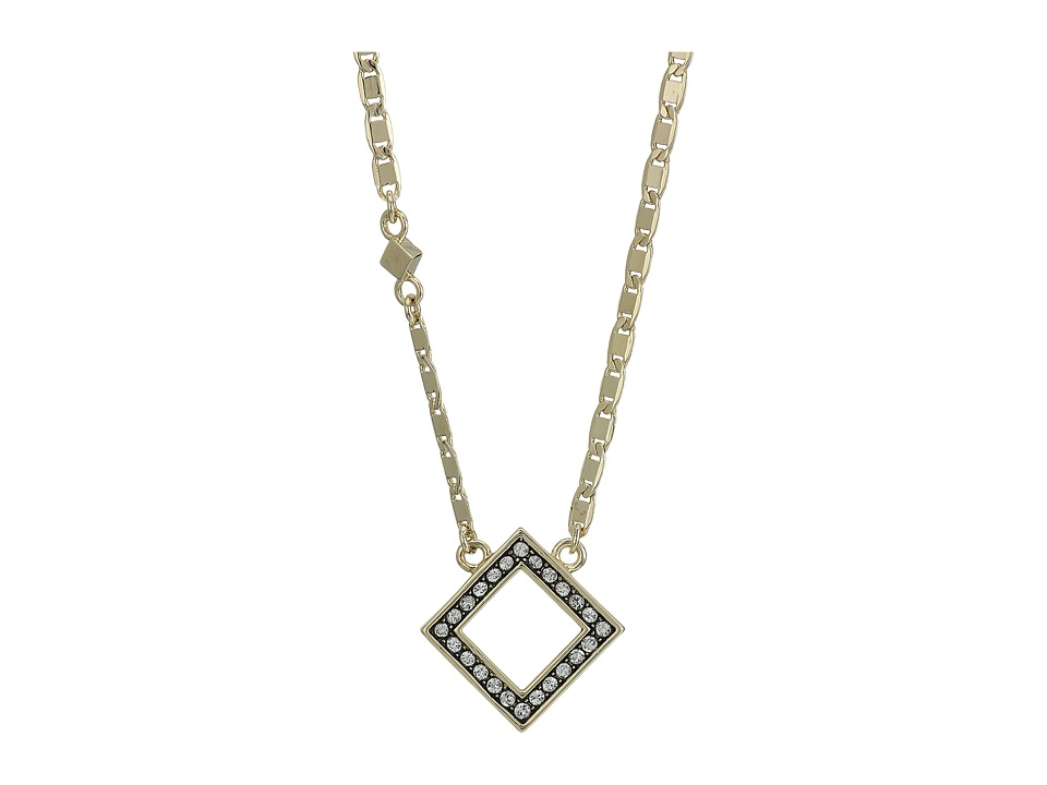 Cole Haan - 16 Open Crystal Diamond Necklace (Gold/Crystal) Necklace