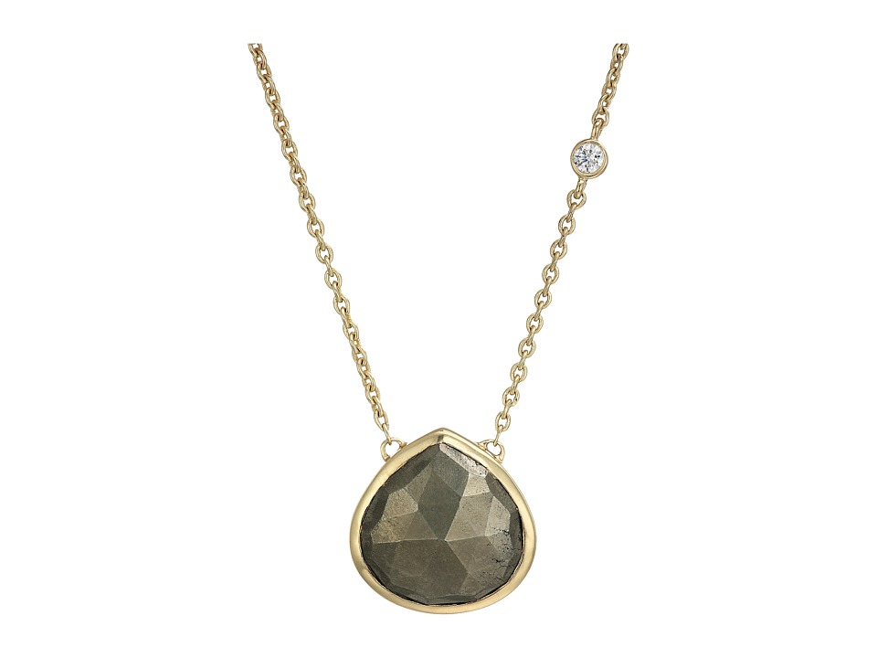 Cole Haan - 16 Semi Necklace (Gold/Pyrite) Necklace
