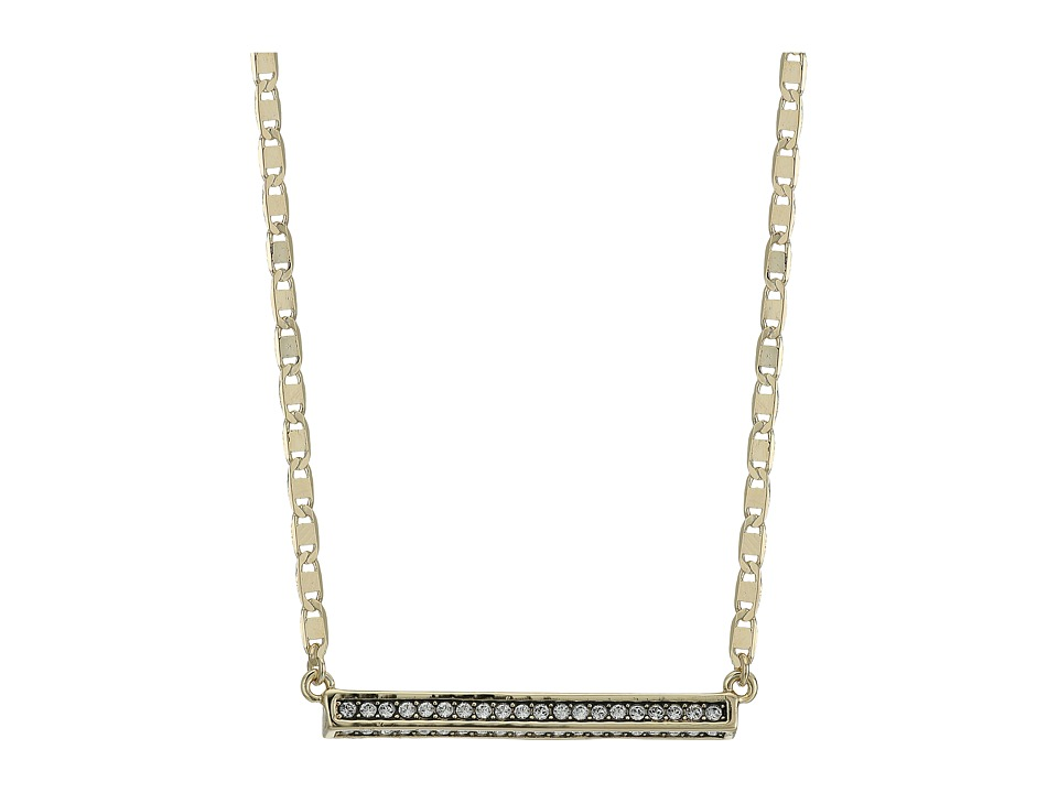 Cole Haan - 18 Crystal Bar Necklace (Gold/Crystal) Necklace