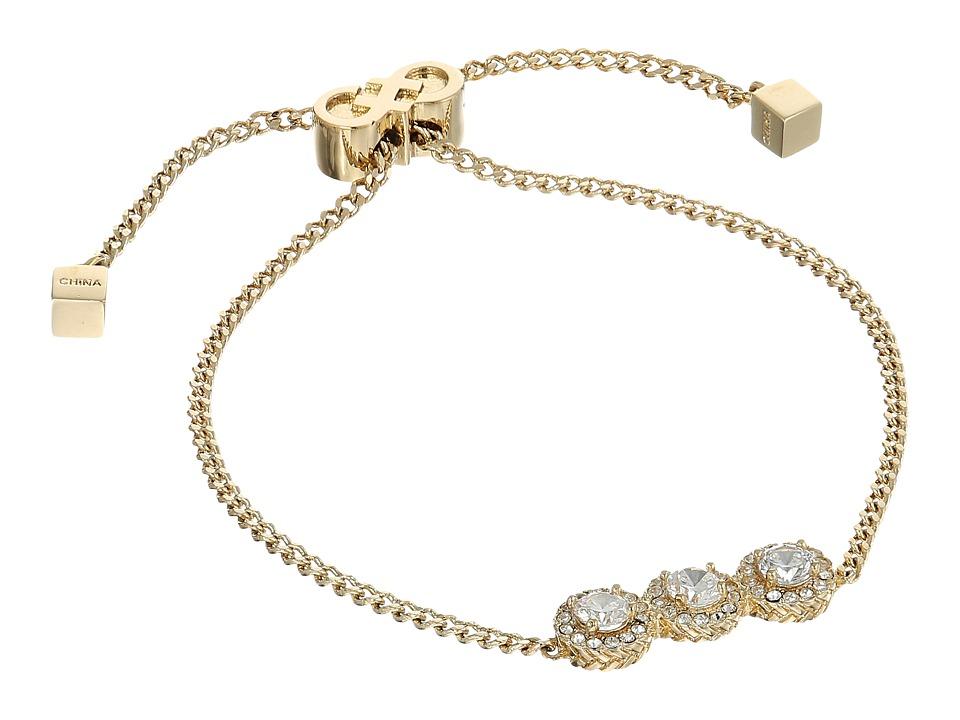 Cole Haan - 3 CZ Pull Tie Bracelet (Gold/CZ) Bracelet