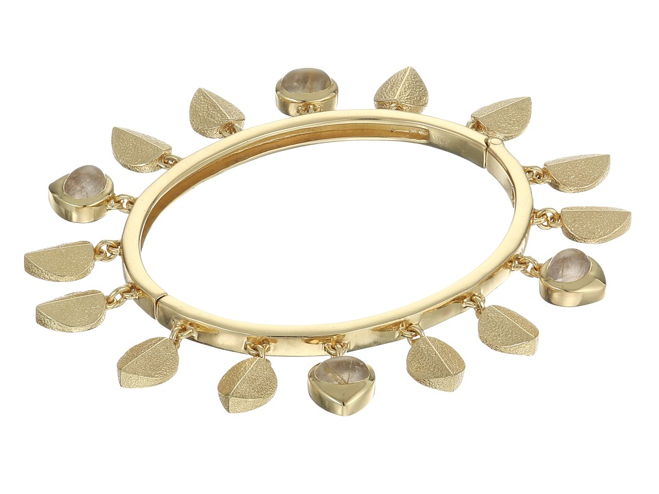 Cole Haan - Shaky Metal and Stone Bangle (Gold) Bracelet