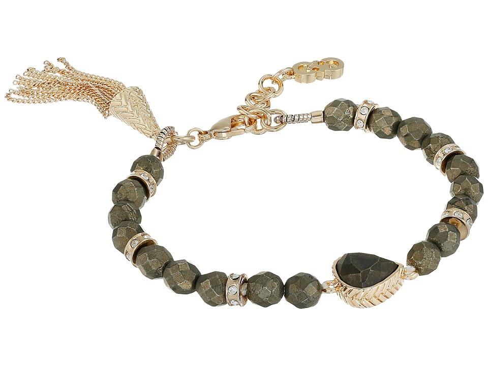 Cole Haan - Beaded Stone Bracelet (Gold/Pyrite) Bracelet