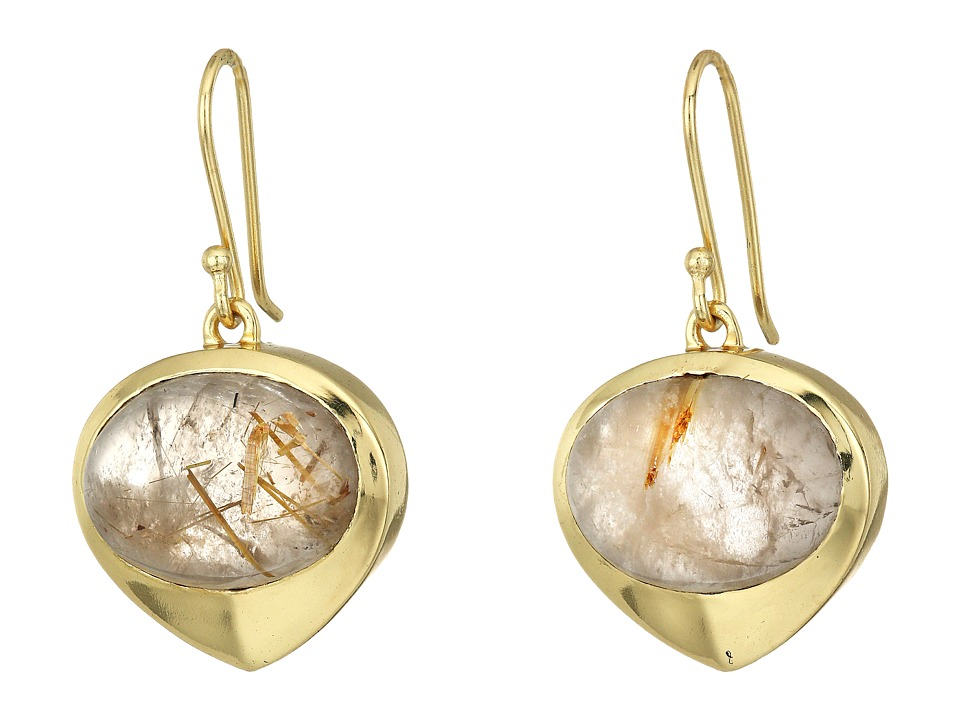 Cole Haan - Stone Teardrop Earrings (Gold) Earring