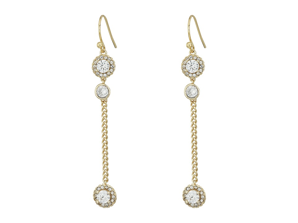 Cole Haan - CZ Linear Earrings (Gold/CZ) Earring