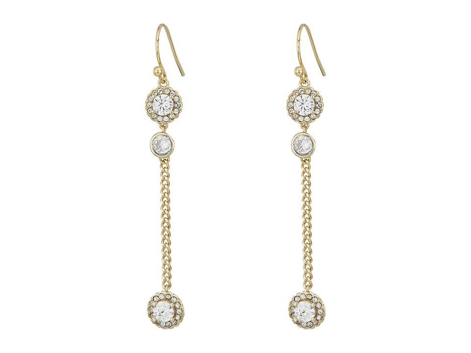 Cole Haan - CZ Linear Earrings (Gold/CZ) Earring