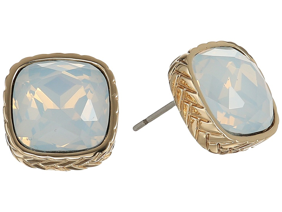 Cole Haan - Stone Stud Earrings II (Gold/Sand Opal) Earring