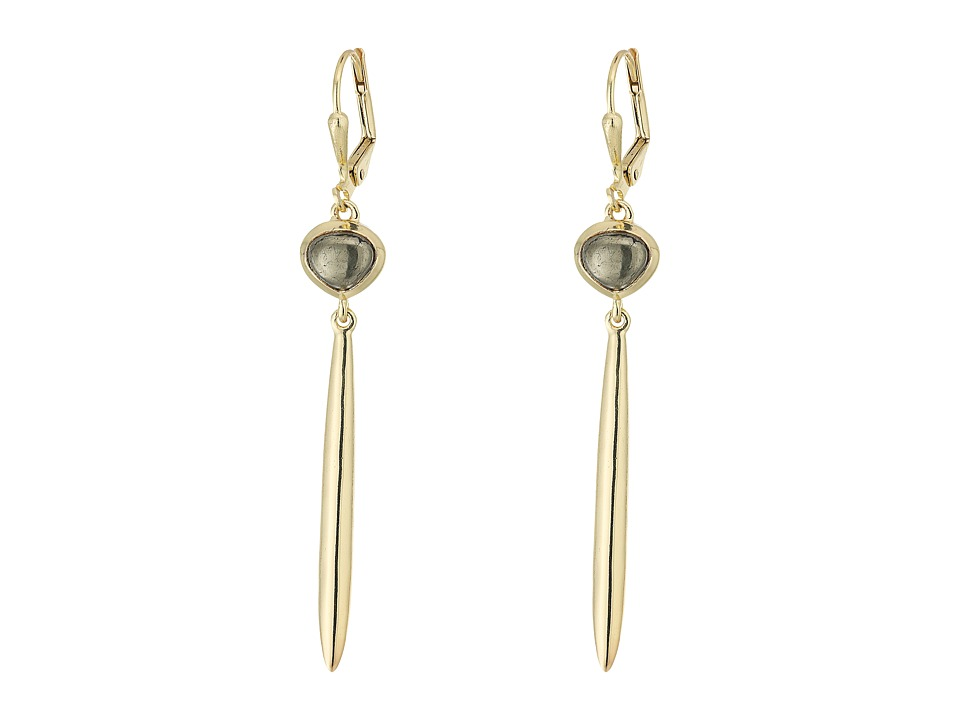 Cole Haan - Semi Metal Linear Earrings (Gold/Pyrite) Earring