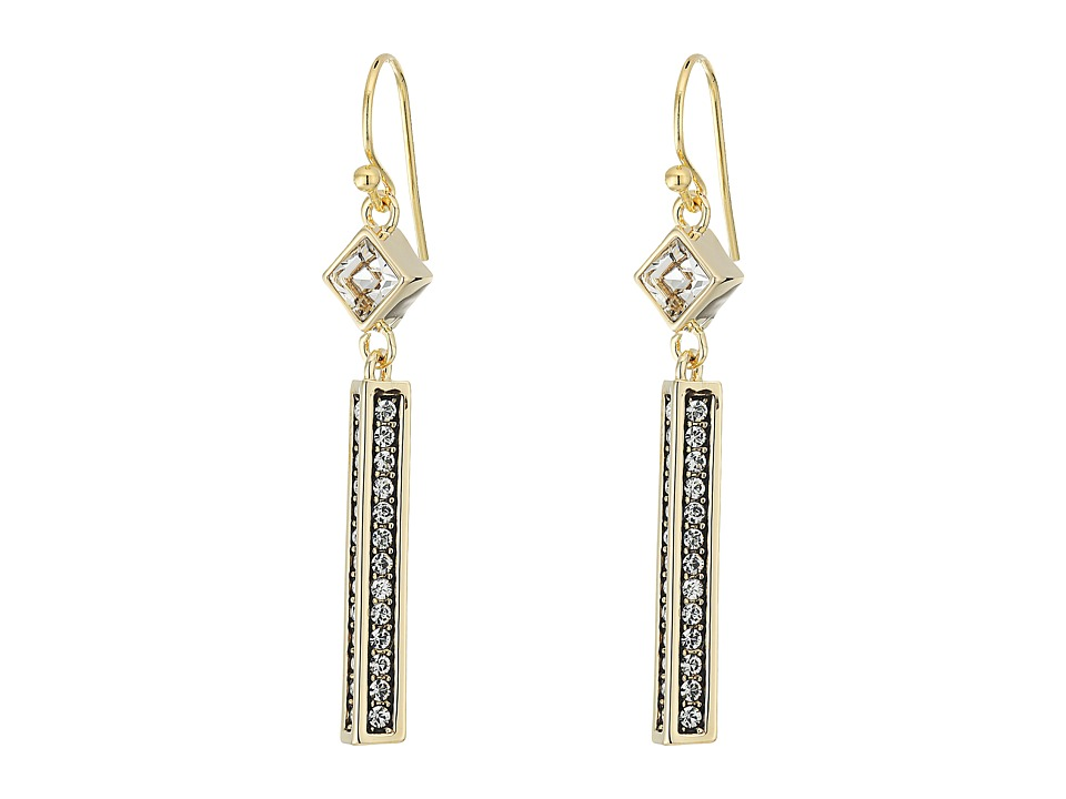 Cole Haan - Crystal Linear Drop Earrings (Gold/Crystal) Earring