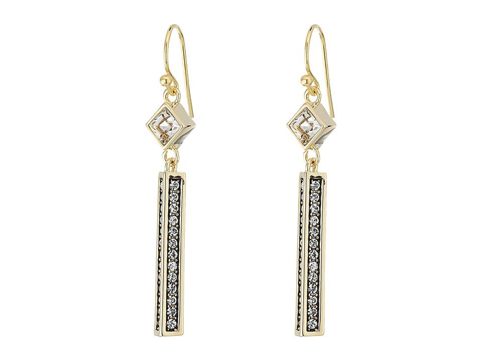 Cole Haan - Crystal Linear Drop Earrings (Gold/Crystal) Earring