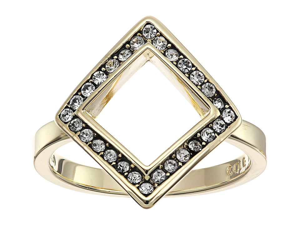 Cole Haan - Open Diamond Crystal Ring (Gold/Crystal) Ring